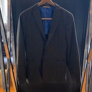 J. Lindeberg Slim Fit Grey Blazer- US S (46L Euro)